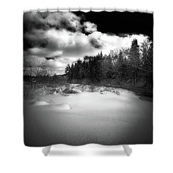 Shower Curtain featuring the photograph The Calm Of Winter by David Patterson