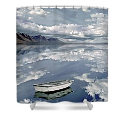 The Calm Shower Curtain by Jacky Gerritsen