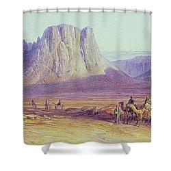 The Camel Train Shower Curtain by Edward Lear