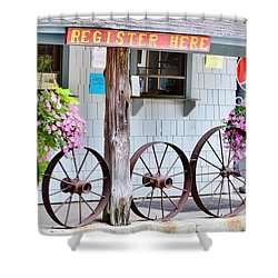 Wagon Wheels Shower Curtain