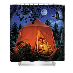 The Campout Shower Curtain