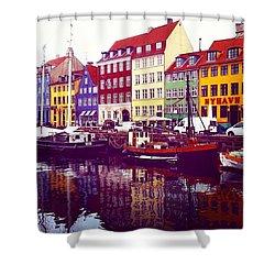 The Canal Copenhagen  Shower Curtain