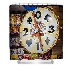 The Candy Wheel Point Pleasant Boardwalk Shower Curtain