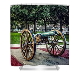 Shower Curtain featuring the photograph The Cannon In The Park by Kendall McKernon