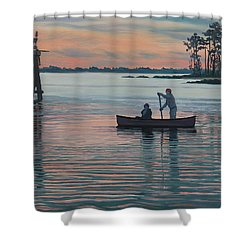 The Canoers Shower Curtain