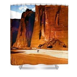 The Canyon Shower Curtain by Paul Sachtleben