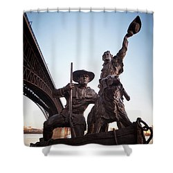 Shower Curtain featuring the photograph The Captain Returns by David Coblitz