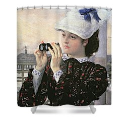 The Captain's Daughter Shower Curtain by Tissot