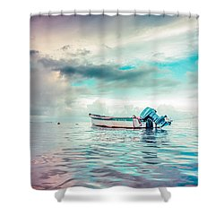 The Caribbean Morning Shower Curtain