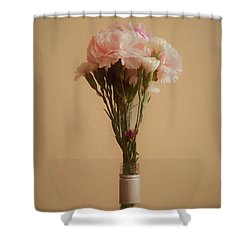Shower Curtain featuring the digital art The Carnations by Ernie Echols