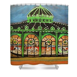 The Carousel Of Asbury Park Shower Curtain