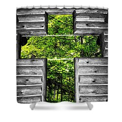The Carpenters Cross Shower Curtain