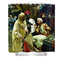 The Carpet Seller - Cairo Shower Curtain by Pg Reproductions