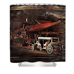 The Carriage Shower Curtain by Bob Pardue