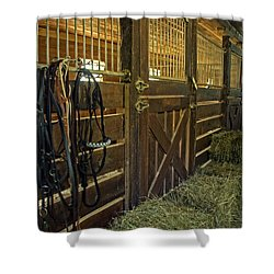 The Carriage House Shower Curtain by Judy  Johnson