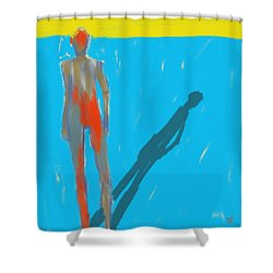 Shower Curtain featuring the painting The Cast Shadow by Jim Vance