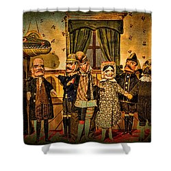 The Cast Takes A Bow Shower Curtain by Chris Lord