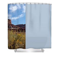 Rock Formation Capital Reef Shower Curtain
