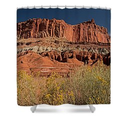 The Castle In Capital Reef Shower Curtain
