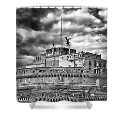 The Castle Of Sant'angelo In Rome Shower Curtain