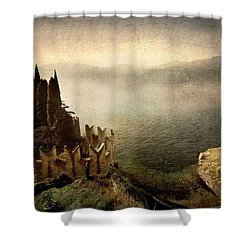 The Castle On The Lake. Malcesine Shower Curtain