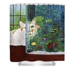 The Cat Aquatic Shower Curtain