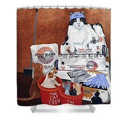 The Cat Crew Shower Curtain