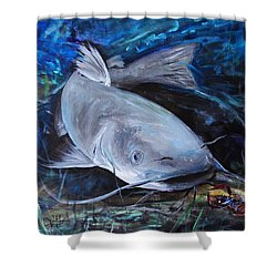 The Catfish And The Crawdad Shower Curtain