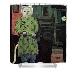 The Cat's Pajamas Shower Curtain by Alexis Rotella