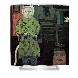 The Cat's Pajamas Shower Curtain