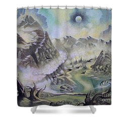 The Cauldron Shower Curtain