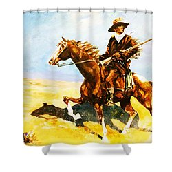 The Cavalry Scout Shower Curtain by Al Brown