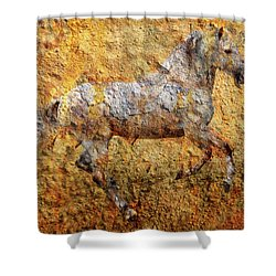 The Cave Painting Shower Curtain
