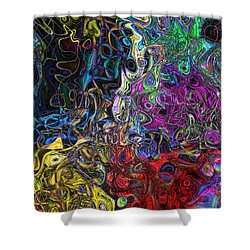 The Caverns Of Kwoong Shower Curtain by Mark Blauhoefer