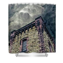 Shower Curtain featuring the photograph The Cell Block Restaurant by Greg Reed