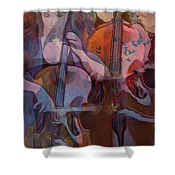 The Cellist Shower Curtain by Alexis Rotella
