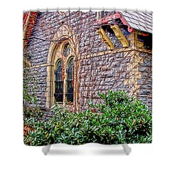 Shower Curtain featuring the photograph Central Park Dairy Cottage by Sandy Moulder