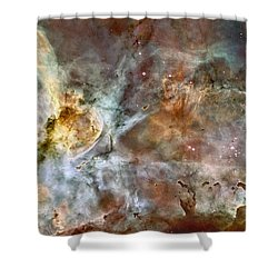 Shower Curtain featuring the photograph The Central Region Of The Carina Nebula by Stocktrek Images