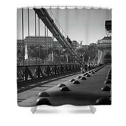 The Chain Bridge, Danube Budapest Shower Curtain