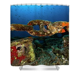 Shower Curtain featuring the photograph The Chain by Rico Besserdich