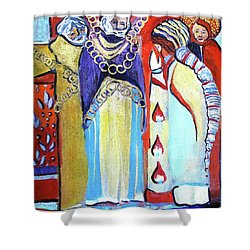 Shower Curtain featuring the painting The Chains That Bind Us To Christ by Mindy Newman