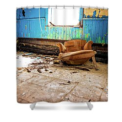 Shower Curtain featuring the photograph The Chair by Randall Cogle