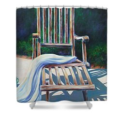 The Chair Shower Curtain by Shannon Grissom