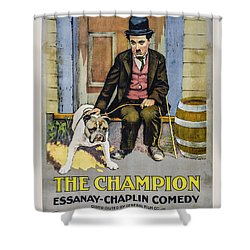 The Champion Chaplin Comedy Shower Curtain