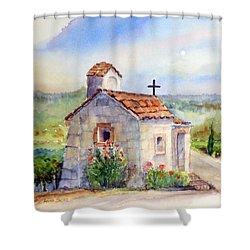The Chapel - Castello Di Amorosa Shower Curtain
