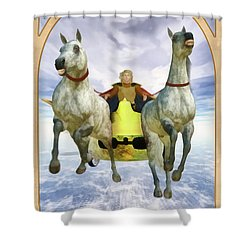 The Chariot Shower Curtain by John Edwards