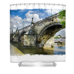 The Charles Bridge - Prague Shower Curtain