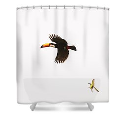 Shower Curtain featuring the photograph The Chase by Alex Lapidus