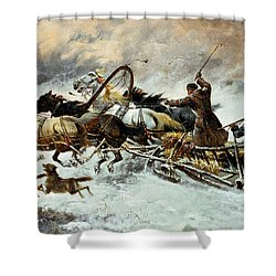 The Chase Shower Curtain by Constantine Stoiloff