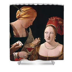 The Cheat With The Ace Of Diamonds Shower Curtain by Georges de la Tour